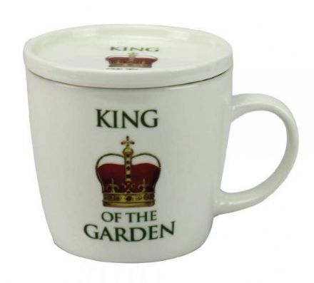 King of the Garden Fine China Mug With Coaster